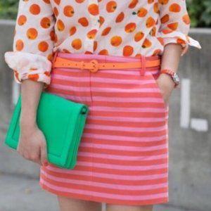 J. Crew Postcard Stripe Mini Skirt